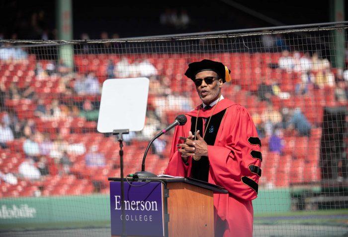 President Pelton speaking