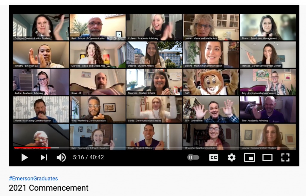 multiple faculty faces on Zoom screen