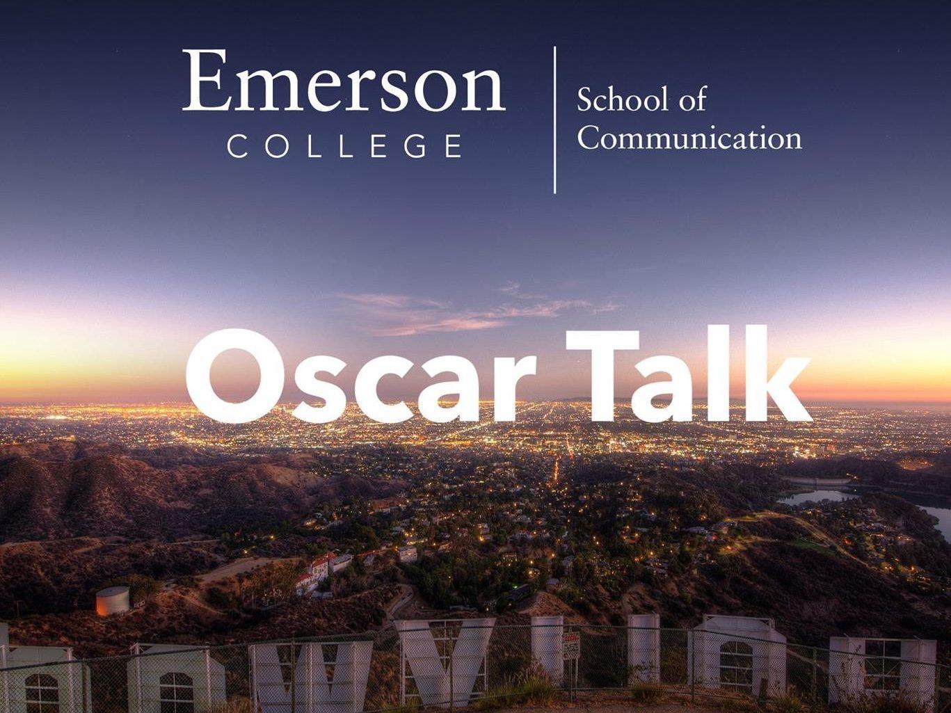 Oscar Talk image over Hollywood sign in LA