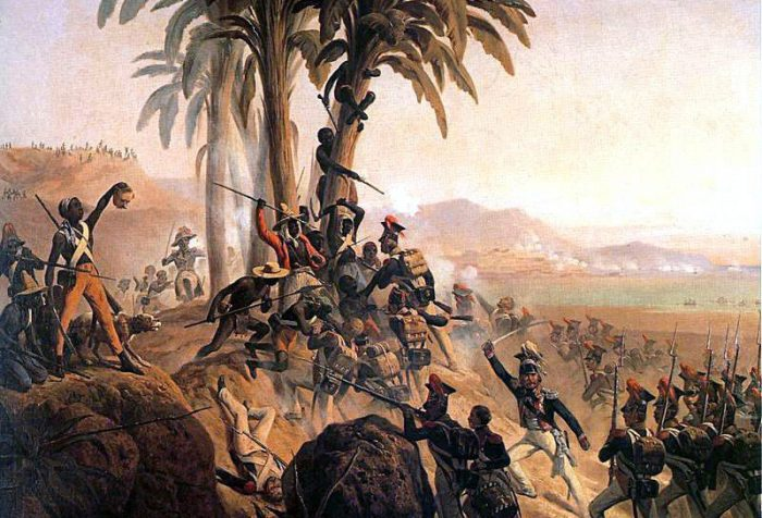 A painting of the Battle for Palm Tree Hill