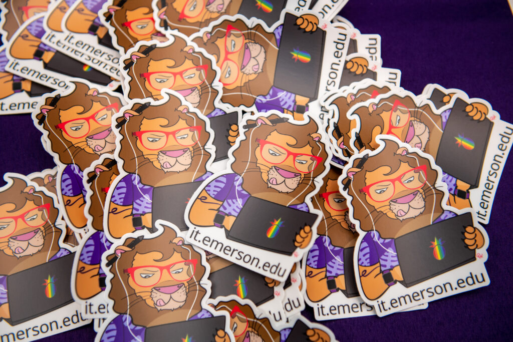 Emerson College lion magnets