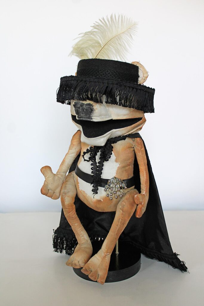 A bear puppet