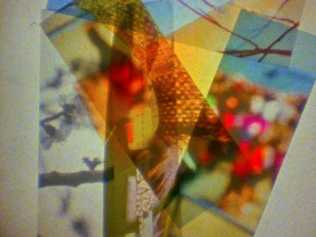 layered photographic images to create abstract image