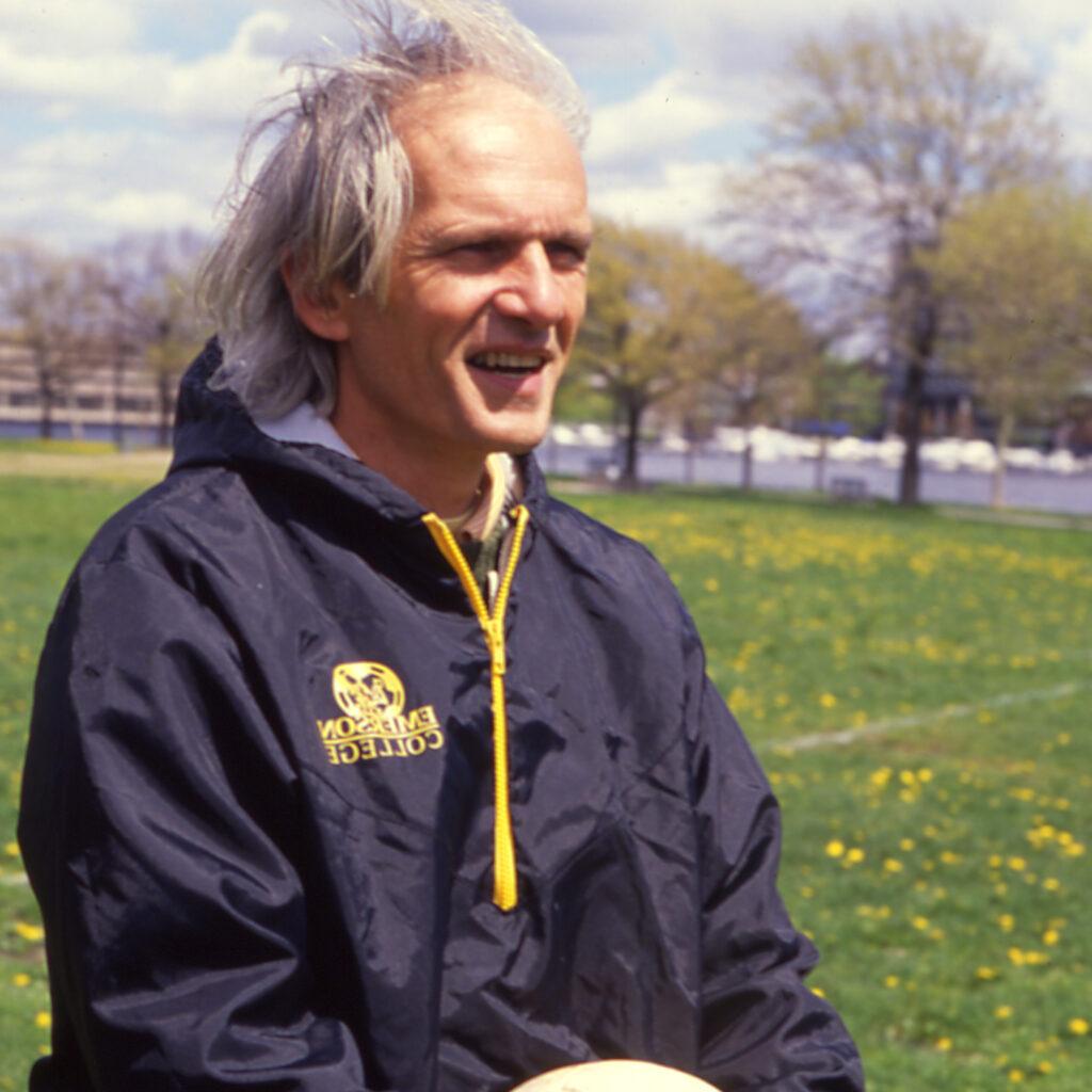 Torso photo of man outside