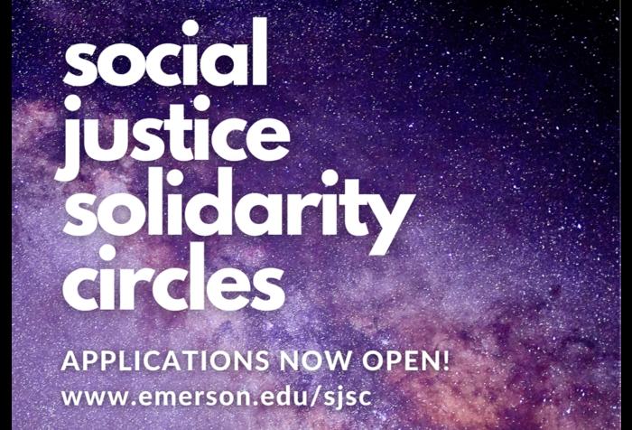 Text reads: social justice solidarity circles